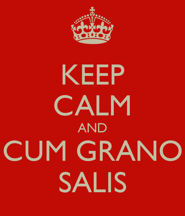 Image result for Cum grano salis